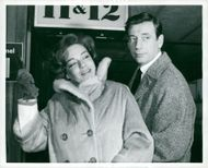 Yves Montand together with his wife Simone Signoret