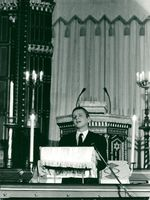 The Prime Minister spoke in the synagogue