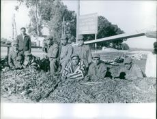 Soldiers are resting. 1961