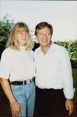 The tennis player Steffi Graf together with his father Peter Graf