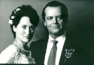 """Actors Meryl Streep and Jack Nicholson in the movie """"In Lust and Need"""""""