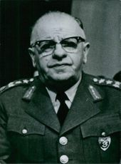 Portrait of turkish personality Gen. Cevdet Sunay, 1962.