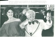 Mickey Rooney with wife arrives at the Oscars Gala at the Los Angeles Music Center