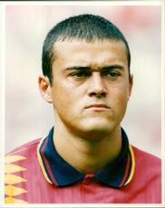 Luis Enrique, football player Spain & Madrid F.C.