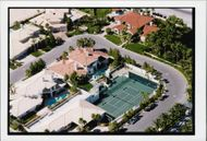 Aerial view of the American tennis player Andre Agassi's home in Nevada