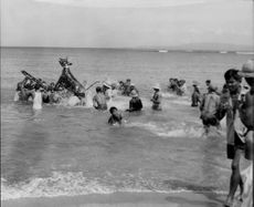 A sea side celebration in Bali. January 11, 1963
