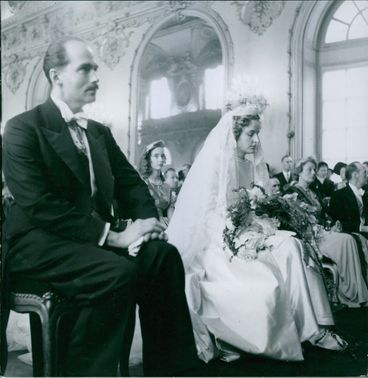 Archduke Otto von Habsburg and Princess of Saxe-Mainingen wedding, 1951.
