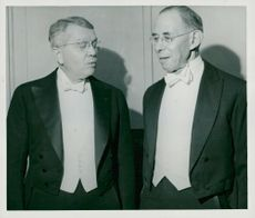 Nobel Prize winner Harold Clayton Urey and Joseph Erlanger
