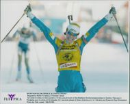 Magdalena Forsberg wins 10 km in the World Cup.