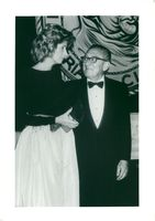 Henry Kissinger with his wife Nancy at Friar's Club's Soaré for Barbara Sinatra at Waldorf Astoria