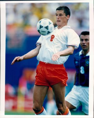 Action image of Wim Jonk who plays in the Dutch national team and Inter Milan FC