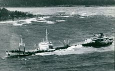 A photograph of a Norwegian Gogstad tanker in the sea.