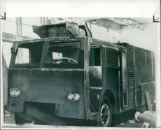 Armored lorry prepared for the Queen's visit to Quebec