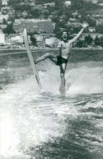 Jacques Charrier surfing.