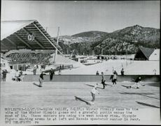 """""""Olympiabyn"""" Squaw Valley in California. The building on the left is the art-free ice hockey arena"""