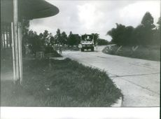 People on a truck just past a checkpoint in Katanga, Congo.  - Jan 1962
