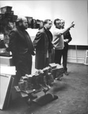 Salon's commissioner and jury at work, Gentlemen Nilsson, Oldenburg, Brunius and Bodén