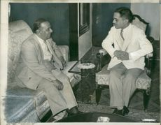 Mr. Suhrawardy with King Hussein.