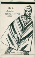 Fashions: two version of cardin cape.