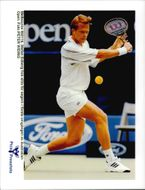 Stefan Edberg attends the Australia Open.