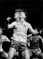 """Sven """"Dala"""" Dahlkvist in action during the World Cup, in the match against Portugal"""