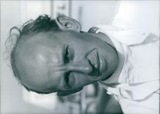 1967  Portrait of a motor racing team owner and engineer from England and a British racing driver Maurice Nun.