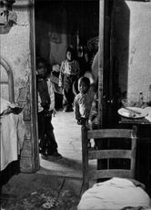 Poor children in their home in New York