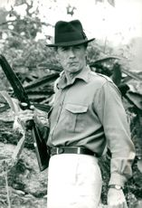 "Clint Eastwood in the movie ""White Hunter, Black Heart"""