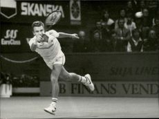 Mats Wilander plays in Stockholm Open