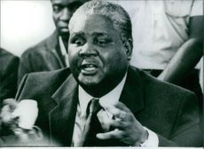 Portrait of Rhodesian politician Joshua Nkomo, 1980.