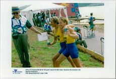 Olympic gold in canoe K2 500 meters. Susanne Gunnarsson and Agneta Andersson