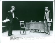 William h macy as john and mary mccann as carol in oleanna.