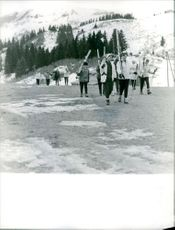 People going for skiing.