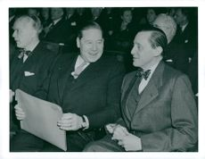 Fritiof Domö with Jarl Hjalmarsson, party leader for the moderates