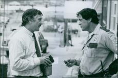 """Robert De Niro as Lt. Moe Tilden and Sylvester Stallone as Sheriff Freddy Heflin in a scene from the movie """"Cop Land"""". 1997."""