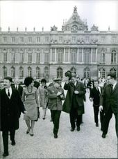 Alexey Arkhipovich Leonov walking together with another man. Photo taken on April 18, 1966.