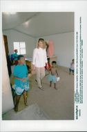 German tennis player Steffi Graf in South Africa, visits hospitals in Cape Town