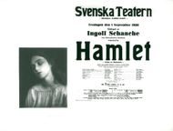 "The Royal Theater's poster for ""Hamlet"" with actress Inga Tidblad like Ofelia"