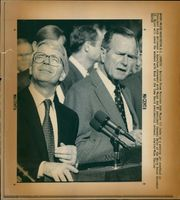 George Walker Bush with John Major.