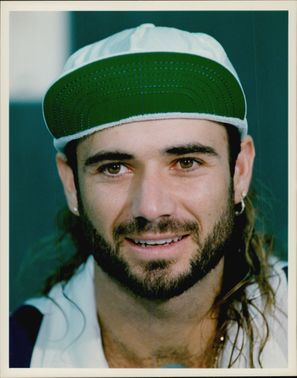 American tennis player Andre Agassi