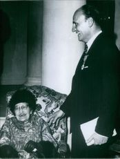 Pierre Balmain sharing a laugh with his mother Françoise.