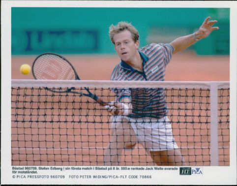 Stefan Edberg during his first match of 8 years.