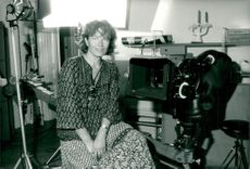 "Gunnel Lindblom during the film recording of ""Some Summer Evenings on Earth""."