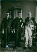 Michel M. Pacliano striking a pose with two other leaders, 1920.