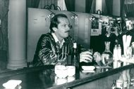 Actor Jack Nicholson at a local saloon in Deauville