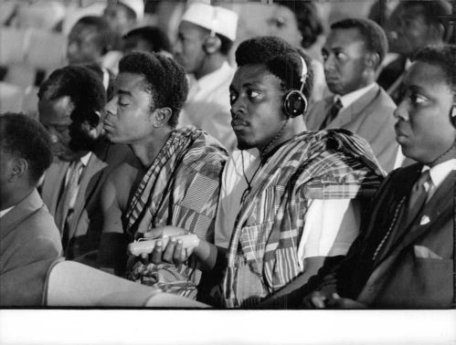 People in a conference in Congo.