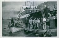 With the pilot boat and a rescue boat at bay, the occupation of the Greek arch is led to Malmö. 1939
