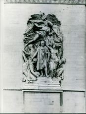 Sculpture on a wall, La Marseillaise, Arc de Triomphe, Paris, France, 1966.