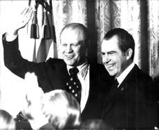 President Nixon together with Vice President Gerald Ford