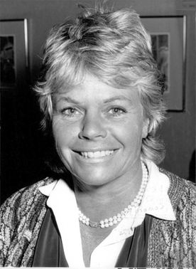 Portrait of Judith Chalmers.